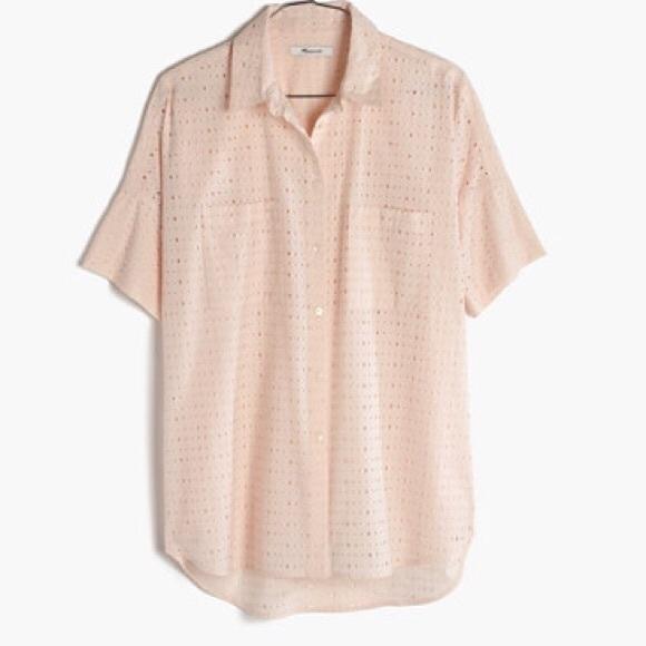 c1e7b753 Madewell Tops | Blush Eyelet Courier Shirt | Poshmark